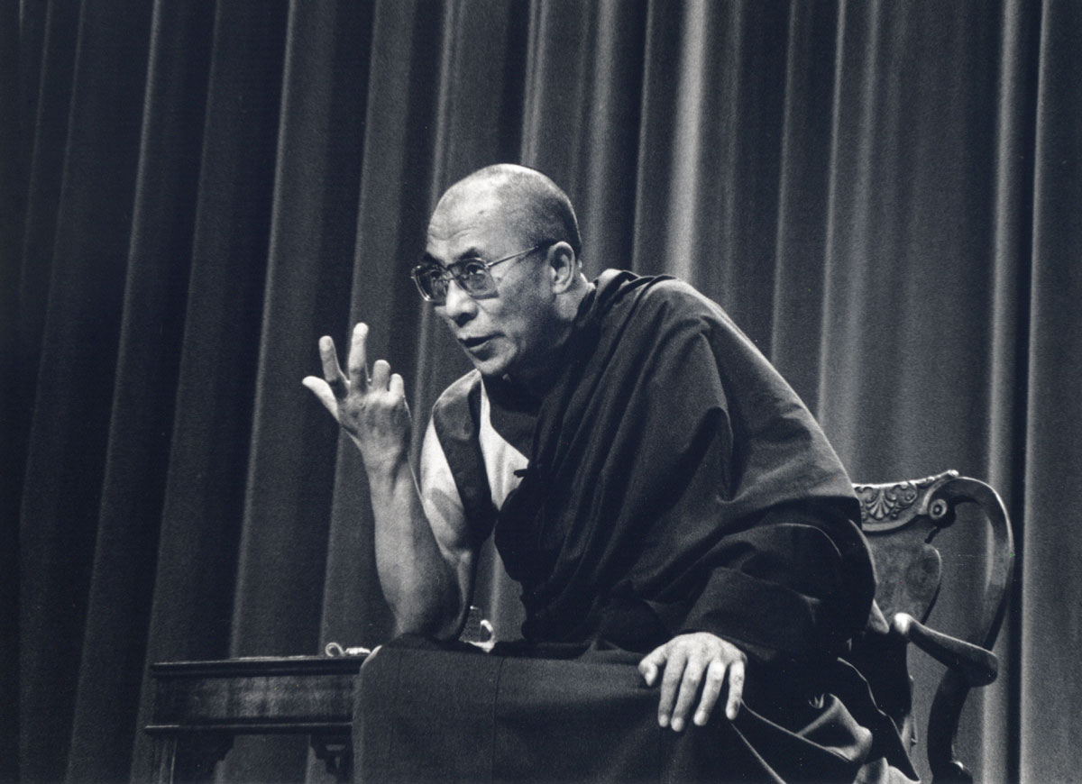 Dalai Lama speaking